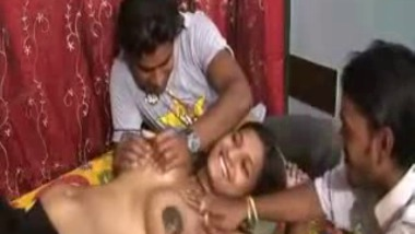 Bihari Indian Girl fucked by her two lovers in a threesome