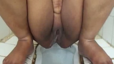 Indian Wife Pissing