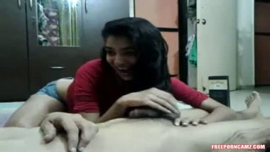 Bhutani teen sister giving hot blowjob session to her cousin