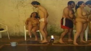 Swimming pool arena turns into group sex place