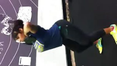 Me squatting in the gym