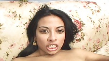 Sexy Latina Swallows Fat Cock Before Taking It Up The Ass