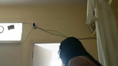 Amateur Indian girl is naked on camera after shower