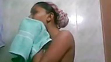 Punjabi girl self captured her bath and dressed