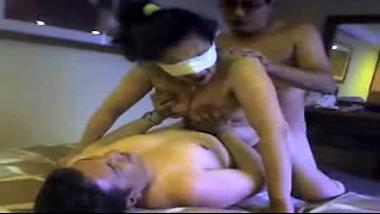 Threesome hardcore sex scandal of kinky Pune wife