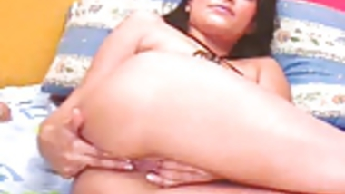Webcam with Indian babe - creamy pussy and ass teasing