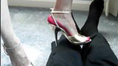 high heel trample