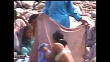 image Satin silk saree saraswathi aunty nude