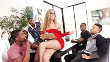Moka Mora Gets Creampied After BBC Gangbang