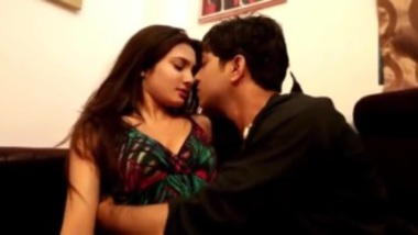 Hot bhabhi romancing with the young student