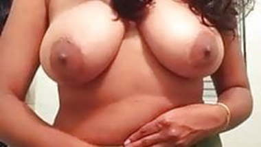 Busty indian showing boobs and ass