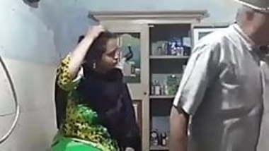 Muslim aunty in silk dress
