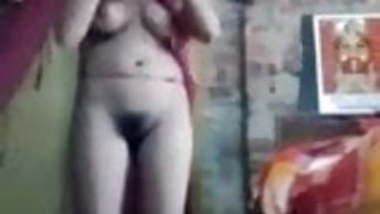 Village girl nude after bath